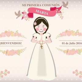 Photocall Primera comunión niña