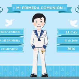 Photocall  Primera comunión niño