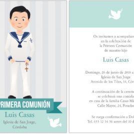 Invitación comunión niño