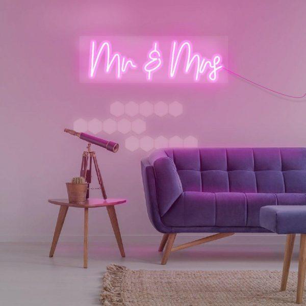 bodas carteles mr&mrs neones para bodas